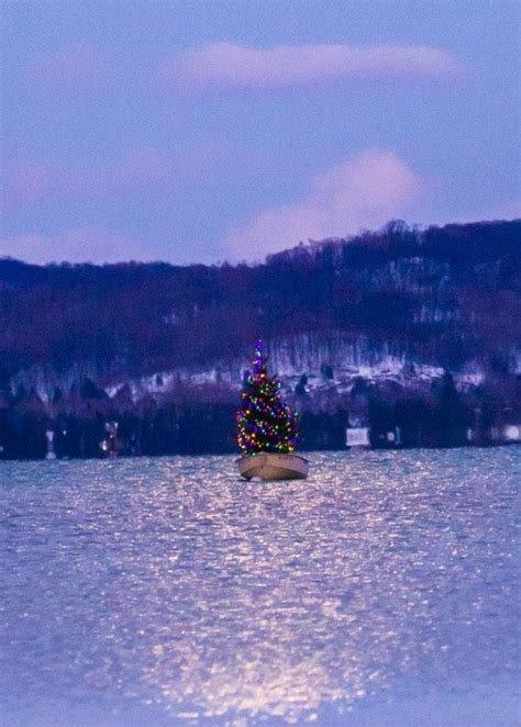 christmas trees in northern mi floating tree in northern michigan is magic mlive