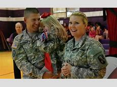 Soldiers Surprise Daughter at School Magic Show Welcome
