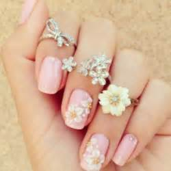 Nail accessories nails flowers cute girly pink
