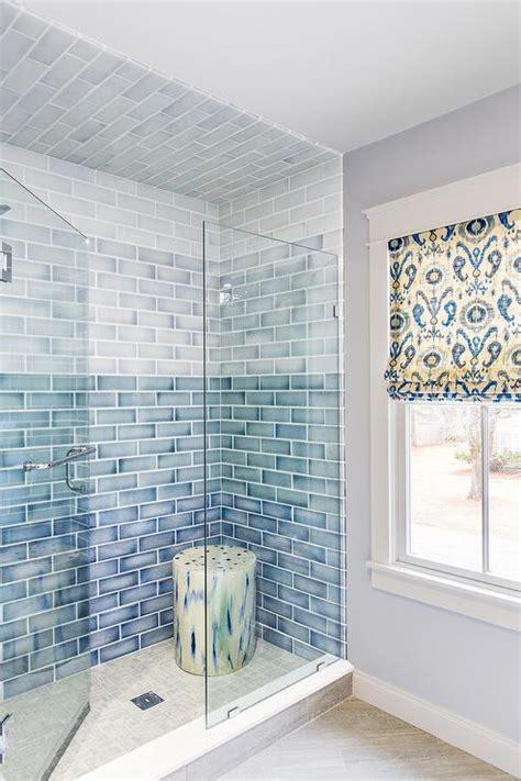 wall tile designs bathroom blue ombre ceramic shower tiles transitional bathroom