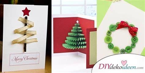 originelle weihnachtskarten basteln grusskarten