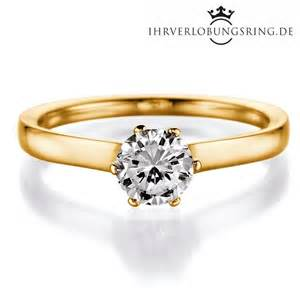 verlobungsring gelbgold solitär verlobungsring royal gelbgold in 14 karat 585