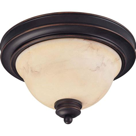 Glomar 2light Copper Espresso Flush Mount With Honey