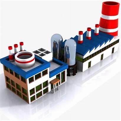 Factory Cartoon Factories Plant Models Turbosquid Hq