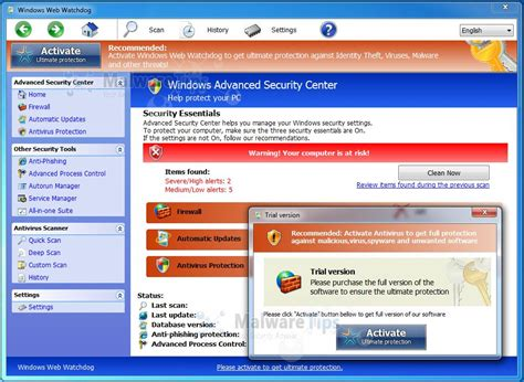 remove windows web watchdog virus removal guide