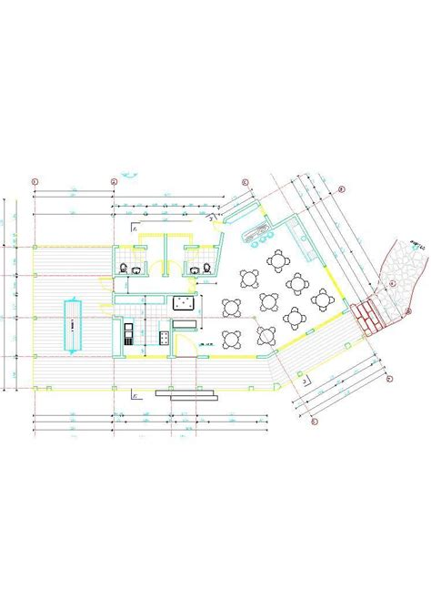 country restaurant hotel  dwg plan  autocad