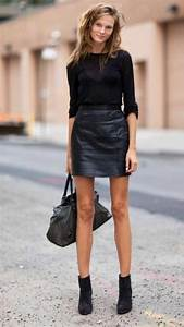 Tenue A La Mode : la jupe simili cuir une tendance top pour le printemps ~ Melissatoandfro.com Idées de Décoration