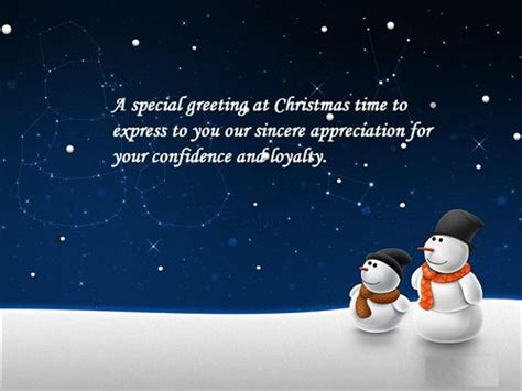Christmas Greetings Messages Business