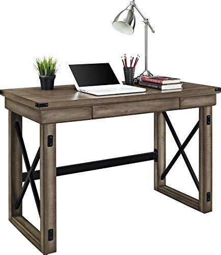 rustic wood desk altra wildwood wood veneer desk rustic gray driftwood