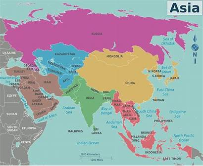 Asia Map Svg East South India West
