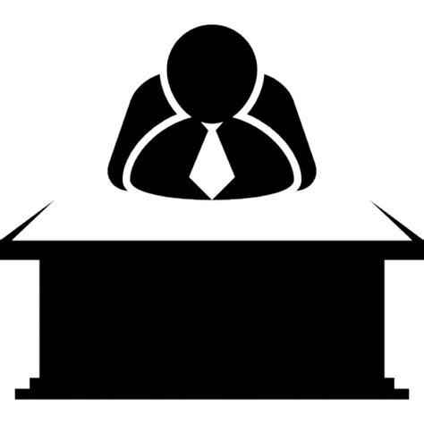 icone pour bureau chef assis derrière un bureau télécharger icons gratuitement