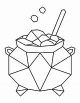 Coloring Cauldron Pages Printable sketch template