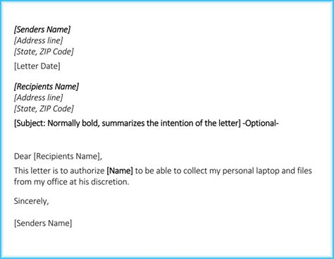 authorization letter  collection   write