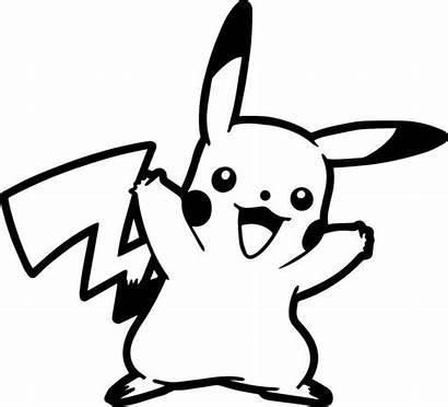 Pikachu Clipart Pokemon Line Drawing Svg Silhouette