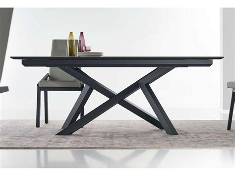 cuisines bois massif table extensible céramique pieds métal à st junien