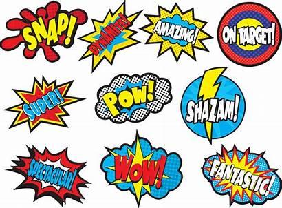 Superhero Clipart Sayings Word Welcome Hero Bubble