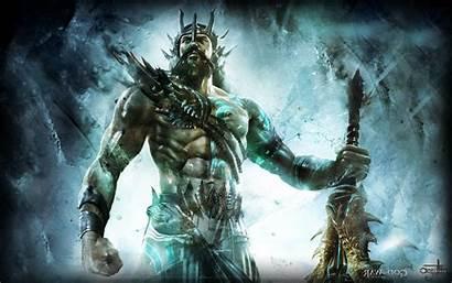 Poseidon God War Mythology Wallpapers Greek Desktop