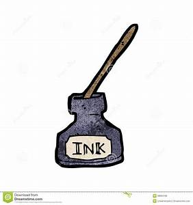 Ink bottle cartoon stock vector. Illustration of hand ...