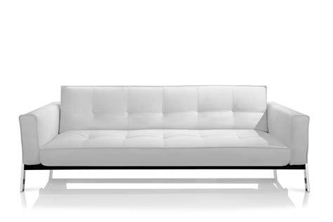 Contemporary White Sofa Modern White Top Grain Leather