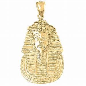 10K, 14K or 18K Gold King Tut Pendant - AZ4791DZ  10k
