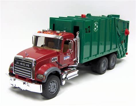 1 16th bruder mack granite rear loading garbage truck