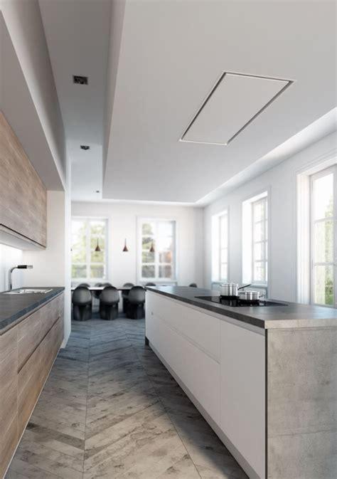 hotte de plafond encastrable en acier inoxydable 6849 line collection line by novy