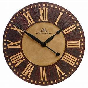 NEW Home Indoor Outdoor Wall Clock Wood Effect Roman