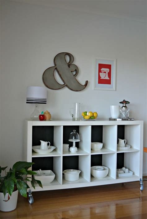 expedit wheels ikea hack expedit sideboard credenza dream home pinterest white wood home renovation and