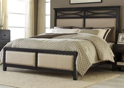 Unfinished Wooden Cal King Bed Frame Upholstered Headboard