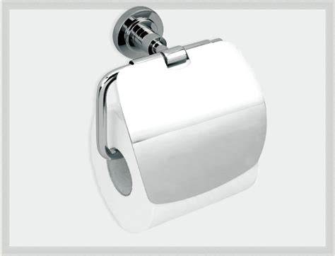 Contemporary Solid Brass Chrome Toilet Paper Holder Roll