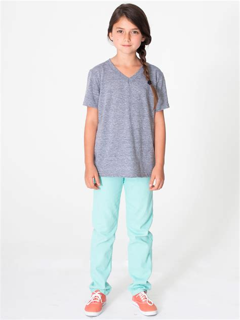 grey vneck american apparel tri blend v neck t shirt evan