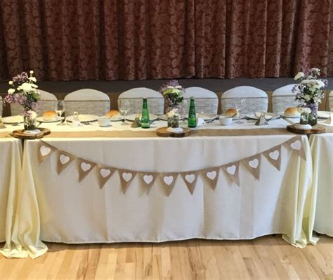 rustic table linens for weddings rustic wedding with a top table decorated with ivory table