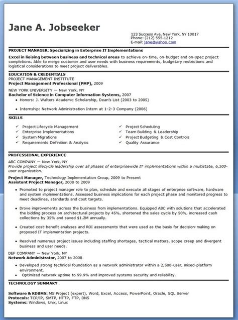 Entry Level It Resume by Entry Level It Project Manager Resume Resume Exles