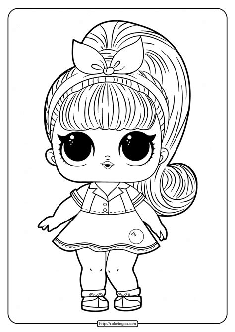 printable lol doll coloring pages