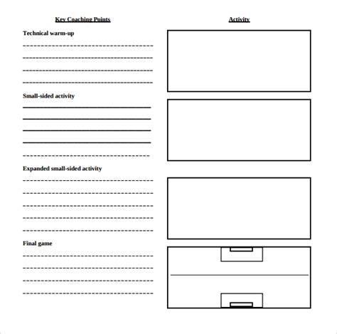 sample blank lesson plans sample templates