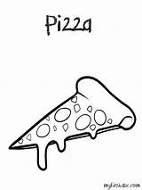 Pizza Coloring Pages Pepperoni Popular Getcoloringpages Preschool Coloringhome sketch template