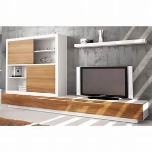 Meuble Bas Salon : meuble tv bas et long design ~ Teatrodelosmanantiales.com Idées de Décoration