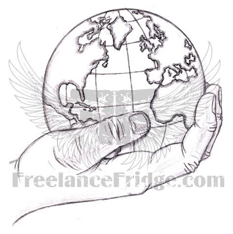 sketches  hands holding earth coloring pages