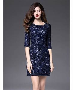 short fitted wedding guest dress navy blue with sleeves With navy wedding guest dress