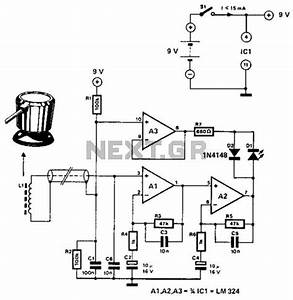 linear inductance meter circuit schematic With lcr bridge circuit