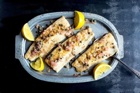 pan fried trout  rosemary lemon  capers recipe