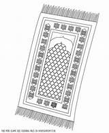 Mat Prayer Colouring Coloring Template Islamic Pages Printable Ramadan Salah Sheets Clipart Activities Islam Intheplayroom Prayers Playroom Rug Books Muslim sketch template
