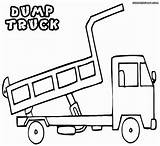 Truck Dump Coloring Pages Colouring Dumptruck sketch template