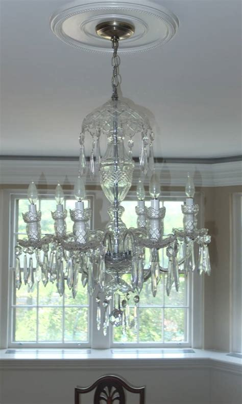 Chandelier Crystals For Sale by Waterford Quot Avoca Quot Six Arm Chandelier For Sale At