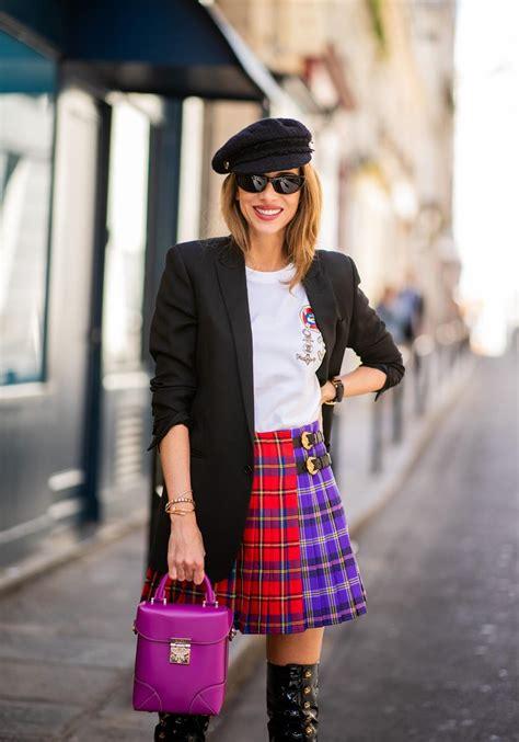 Kilt Skirt Patent Leather Boots Blog Alexandra Lapp