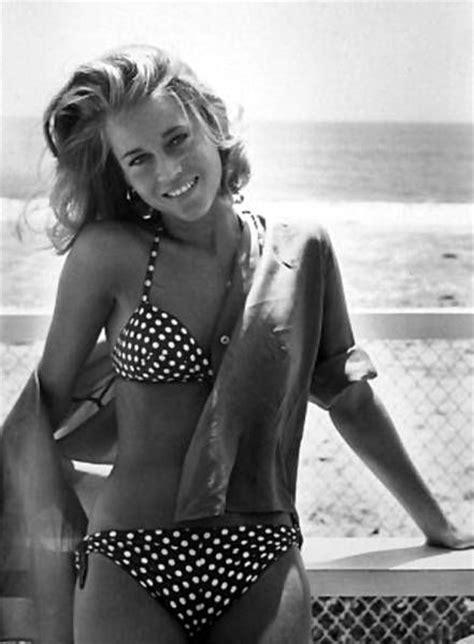 jane fonda bikini jane fonda polka dot bikini famous women pinterest