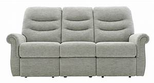 G Plan Holmes Three Seater Lhf Manual Recliner Sofa