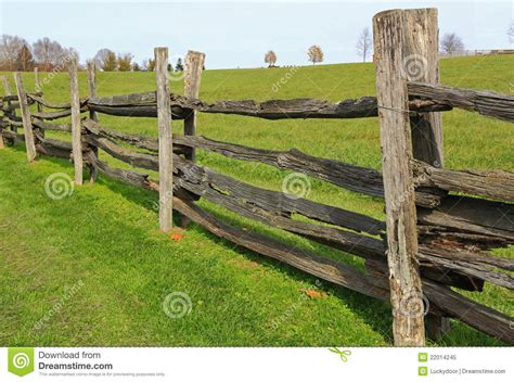 Farm Wood Fence Stock Image. Image Of Green, Farms