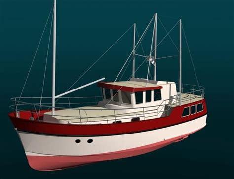 dutch trawler yacht passagemaker barge boats barges liveaboard boat ocean yachts going plans steel passage range designs branson sailing sea