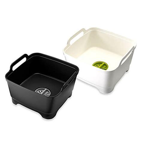 kitchen sink dish pan joseph joseph 174 wash and drain dish pan bed bath beyond 5701